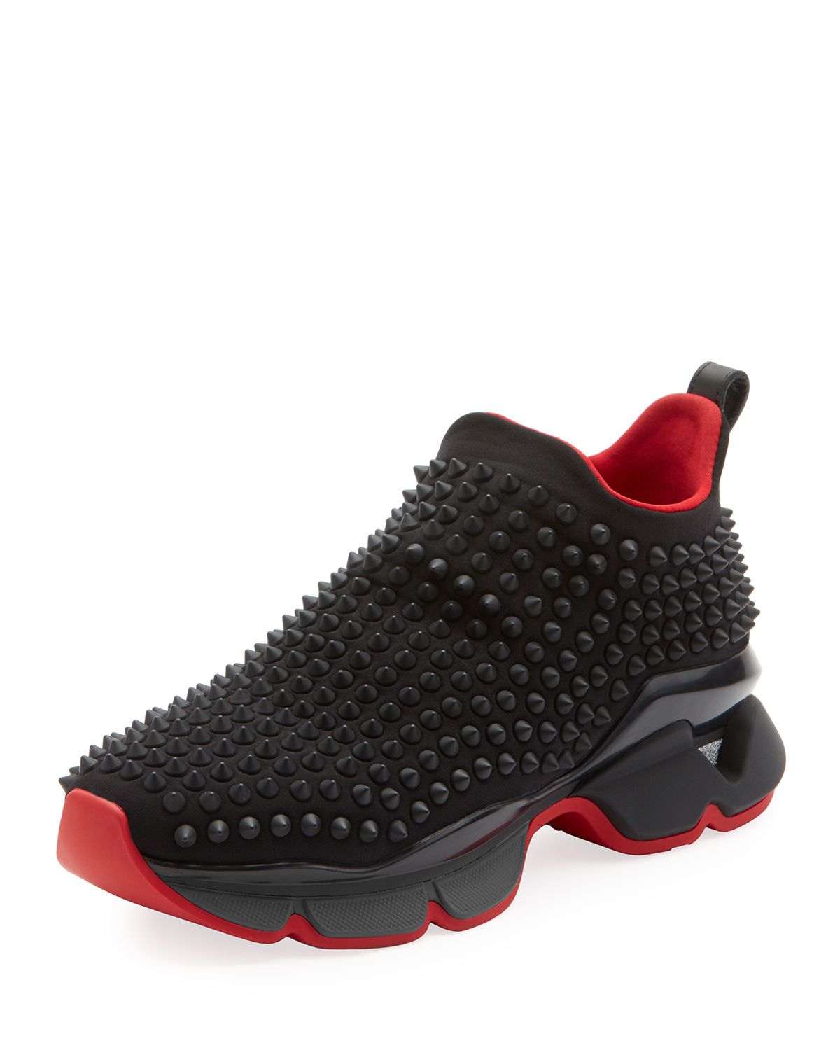 f33e580a348 Christian Louboutin Spike Sock Donna Flat Sneakers - Black