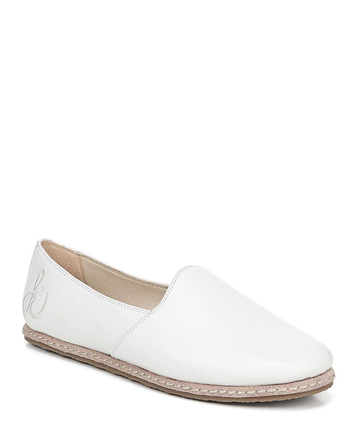 b0af2a9a352 Sam Edelman Women s Everie Leather Slipper Loafers In Bright White ...