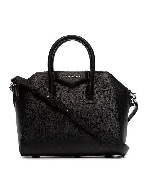 Givenchy Antigona Mini Leather Duffel Bag - Black In 001 Black