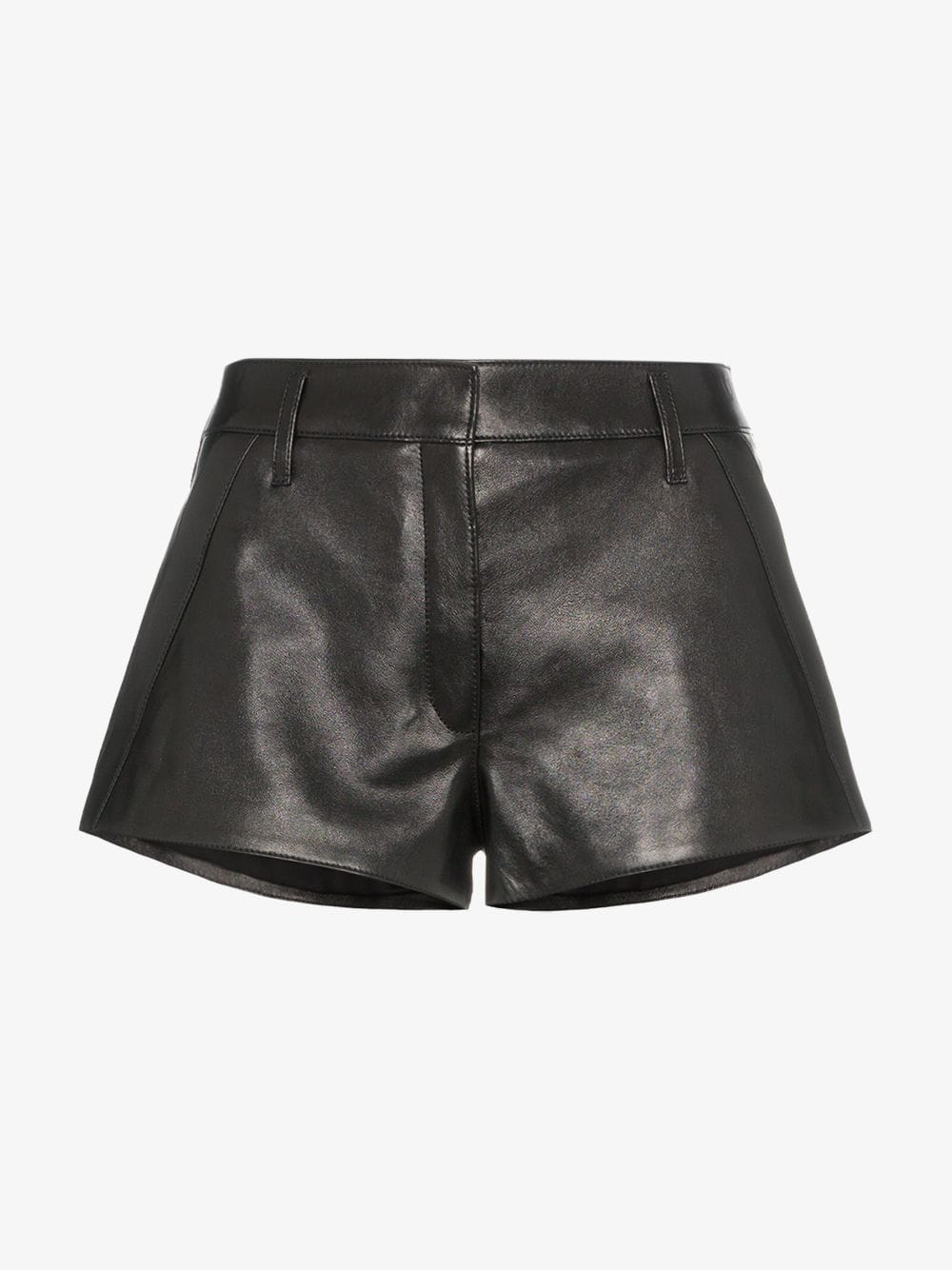cf624d4fb4f SAINT LAURENT. Black Leather Shorts. $916 - $1208. Available From 2 stores