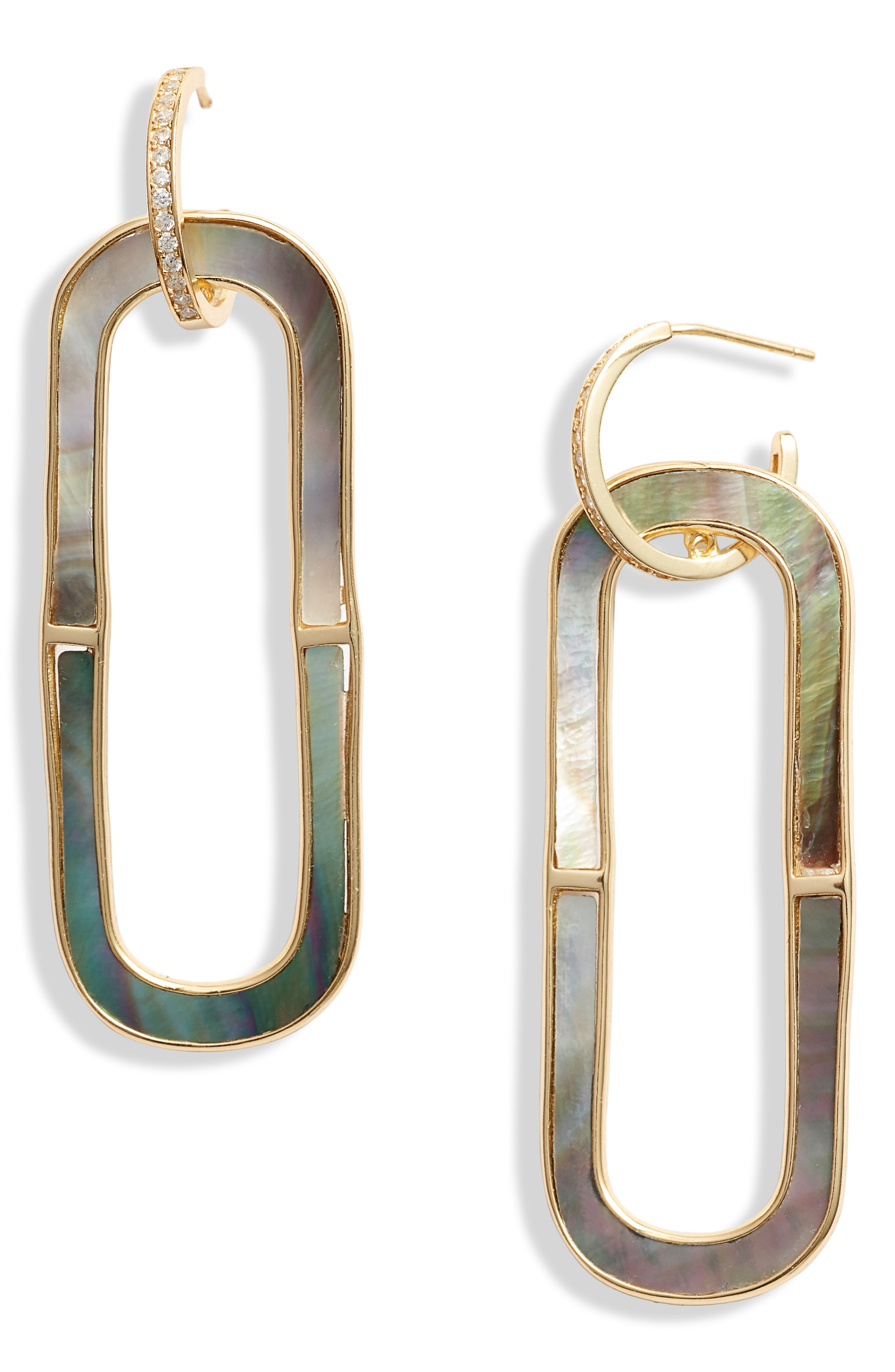 ed3070888 Argento Vivo Oval Mother-Of-Pearl Drop Earrings In 18K Gold-Plated Sterling
