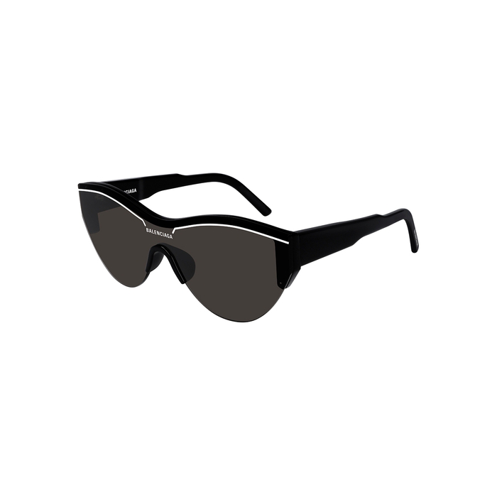 Balenciaga Women's Cat Eye Shield Sunglasses, 99mm In Black