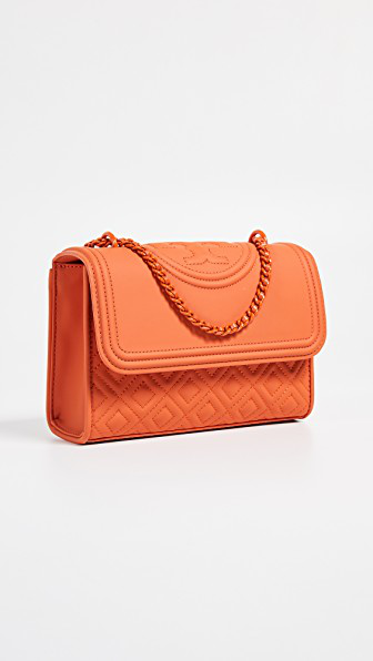 Tory Burch Fleming Matte Small Convertible Shoulder Bag In Pomander