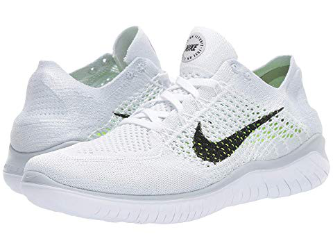 127fed1a08c Nike Free RN Flyknit 2018 White Black Pure Platinum Mens Running All NEW  Men s Shoes