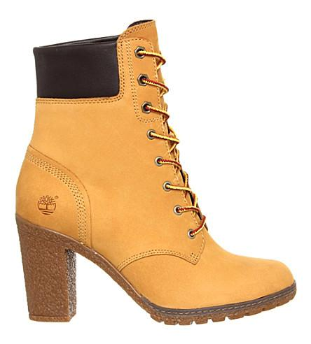 Timberland Glancy Leather Ankle Boots In New Wheat Nubuck