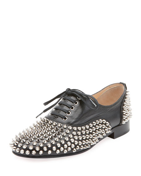 d026bbc99712 Christian Louboutin Freddy Spikes Donna Leather Oxfords - Black ...