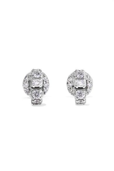 Ana Khouri Carmy 18-karat White Gold Diamond Earrings