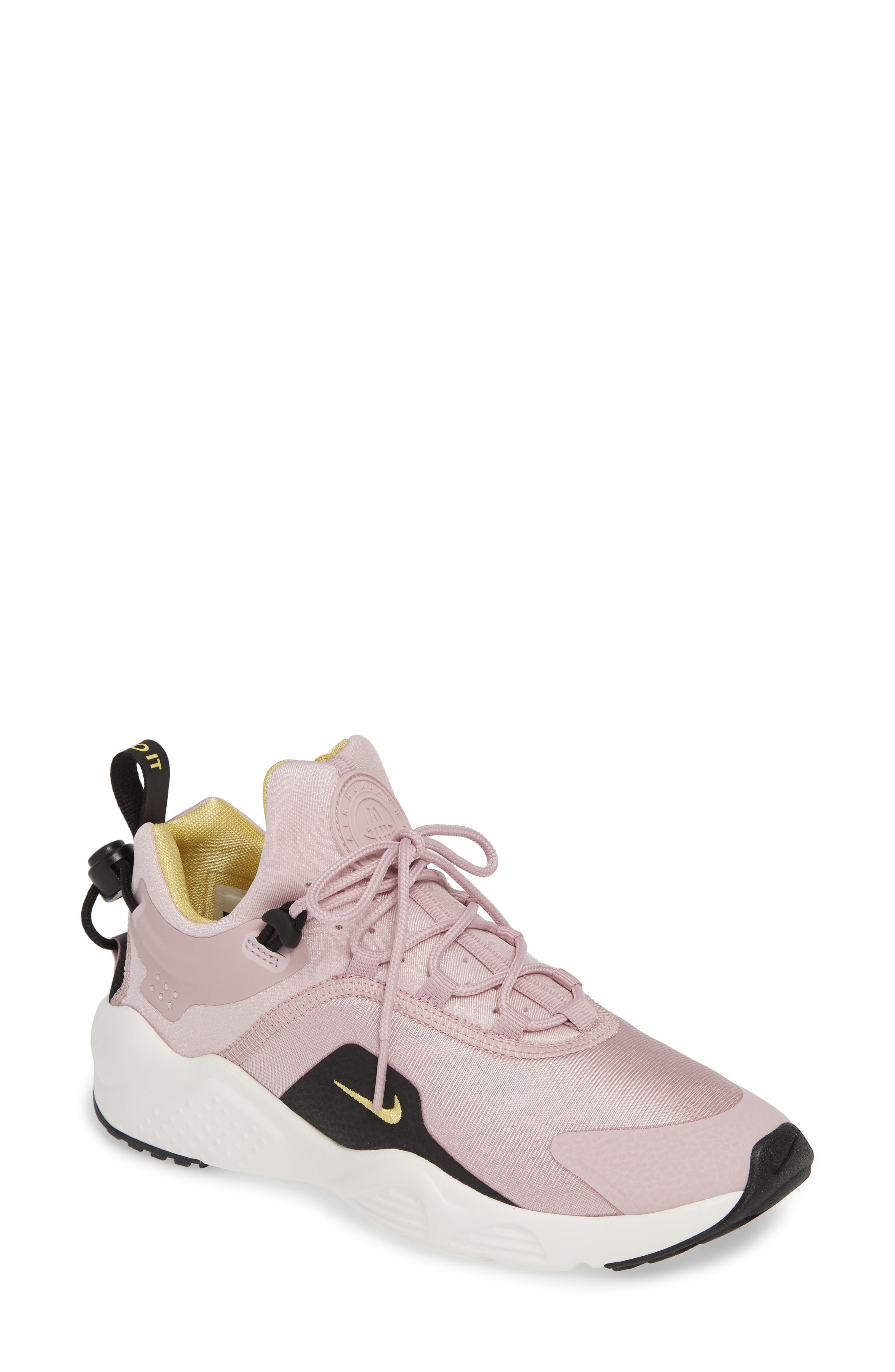01710cea5b7b6 Nike Women s Air Huarache City Move Low Top Sneakers In Plum Chalk  Celery   Black