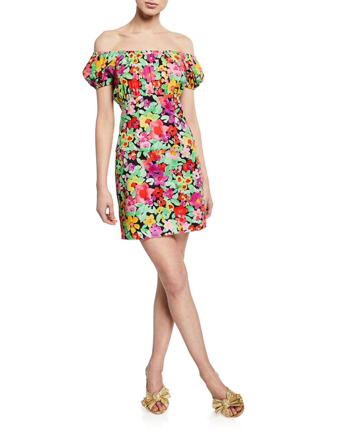 dea73e769f4a Caroline Constas Calla Off-The-Shoulder Floral-Print Cotton Mini Dress
