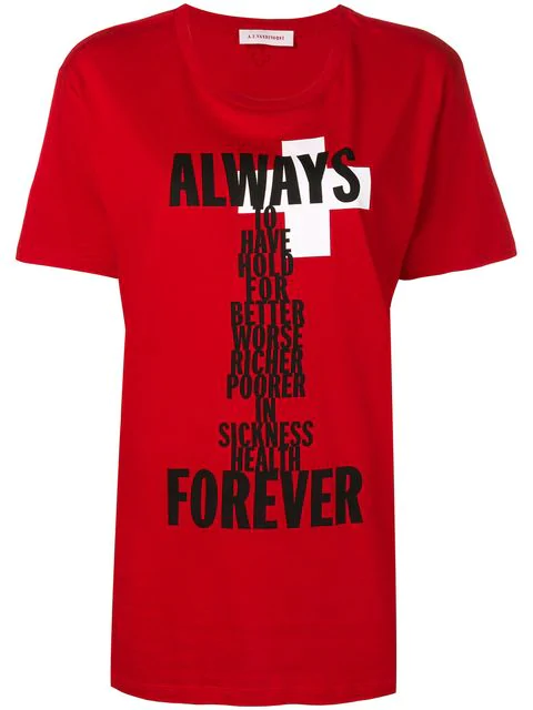 A.F.Vandevorst Always Forever T-Shirt In Flame