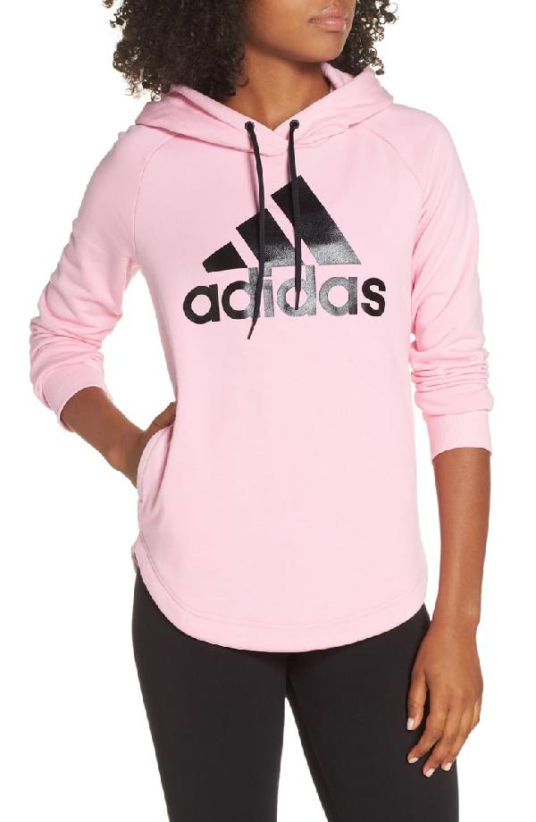 b90ca21051d Adidas Originals Women's Badge Of Sport Must-Haves Pullover Hoodie, Pink In  True Pink
