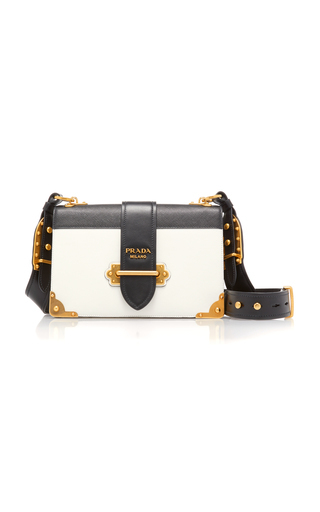 21d63b7884 CAHIER LARGE TWO-TONE LEATHER SHOULDER BAG