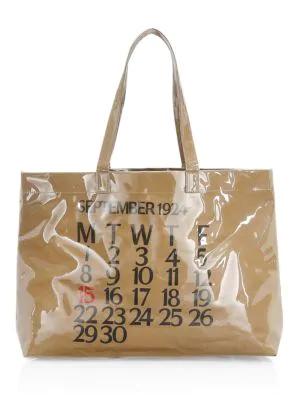 Saks Fifth Avenue Calendar Pvc Shopper In Beige