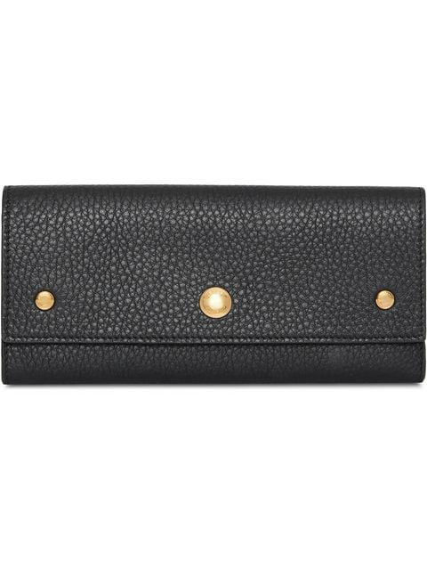 Burberry Stud-detailing Continental Wallet In Black