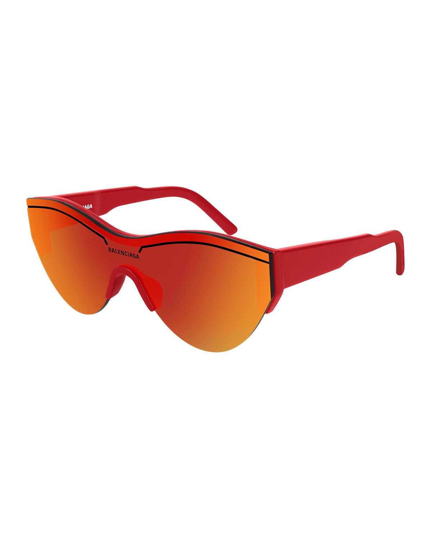 6ce250043de9 Balenciaga Semi-Rimless Acetate Cat-Eye Sunglasses In Red   ModeSens