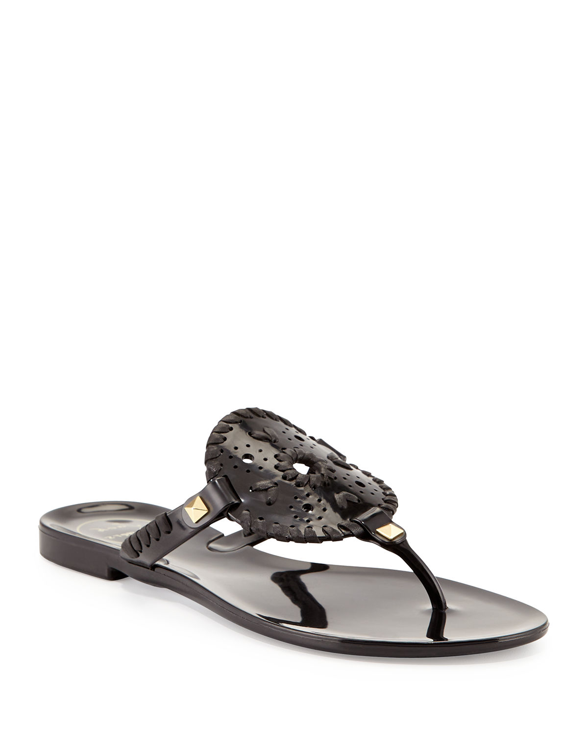 837e1586b0bc Jack Rogers Georgica Jelly Thong Sandals In Black