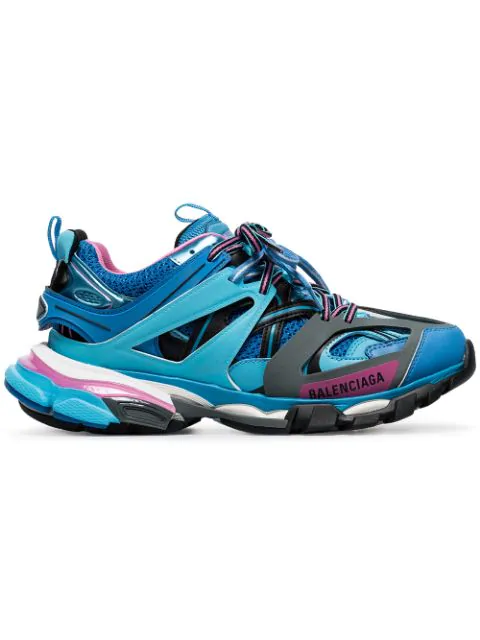 Balenciaga Men's 542023w1gb54162 Light Blue Leather Sneakers