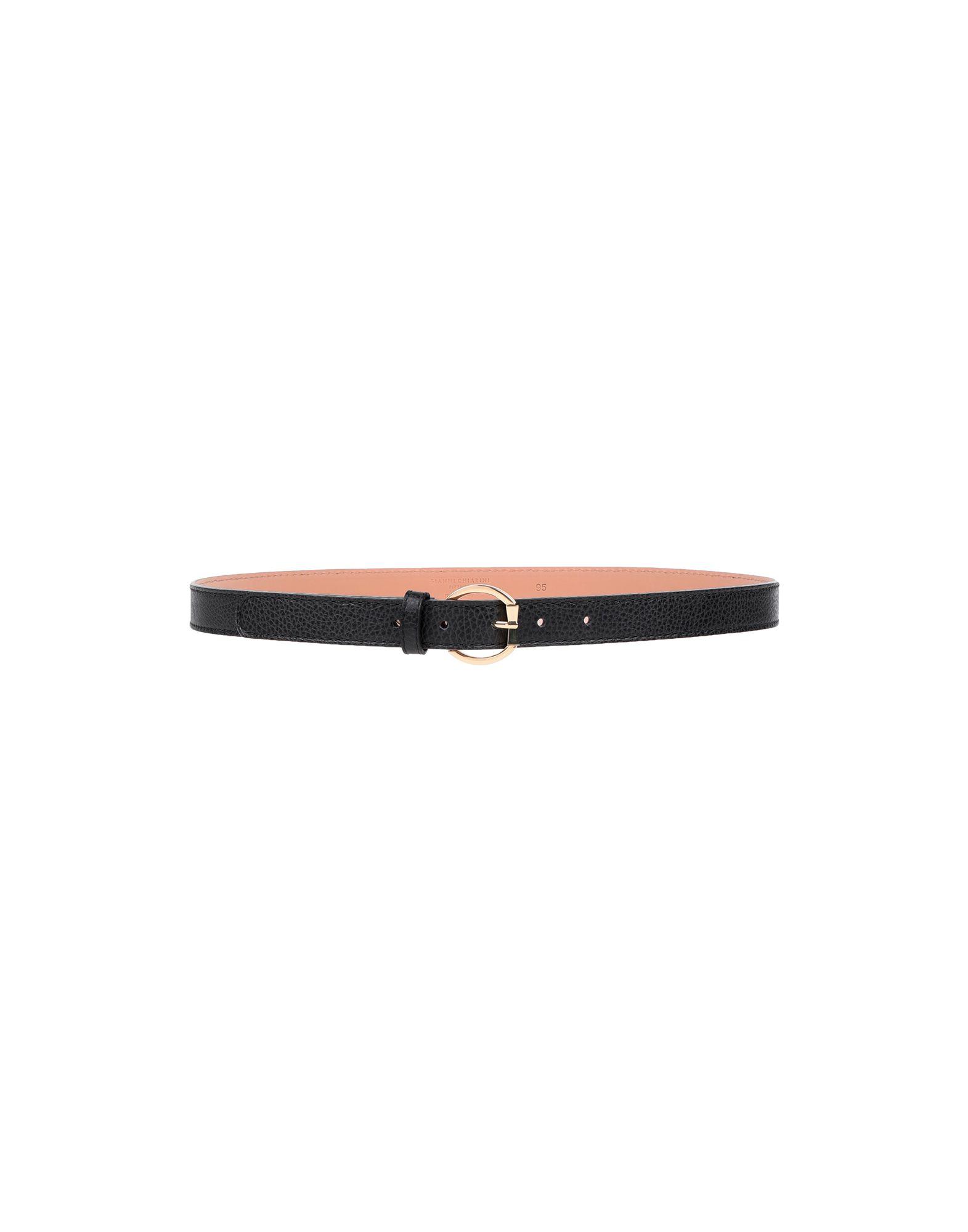 Gianni Chiarini Thin Belt In Black