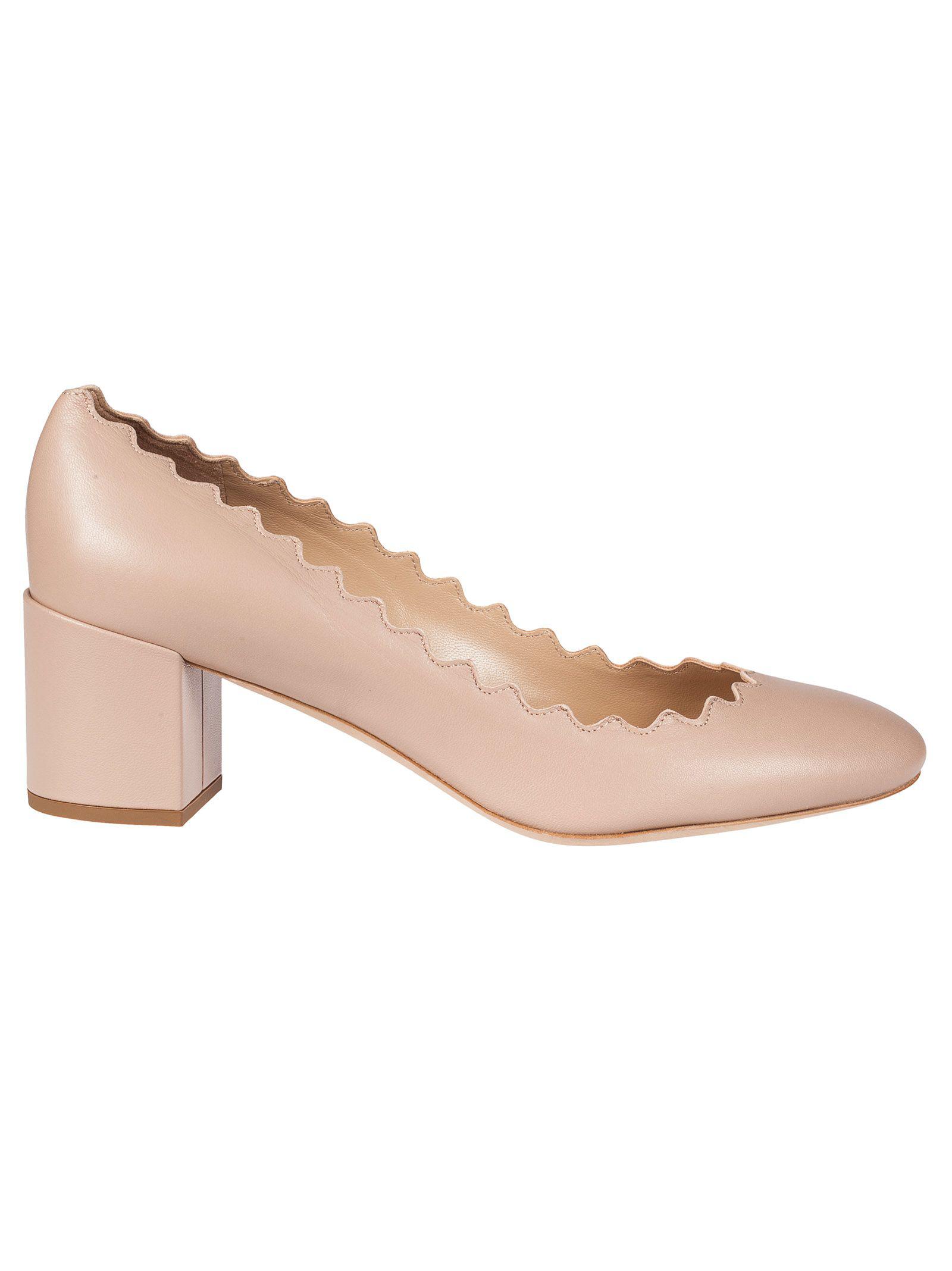 ceed6d8d9 ChloÉ Women's Lauren Scalloped Block-Heel Pumps In Neutral   ModeSens