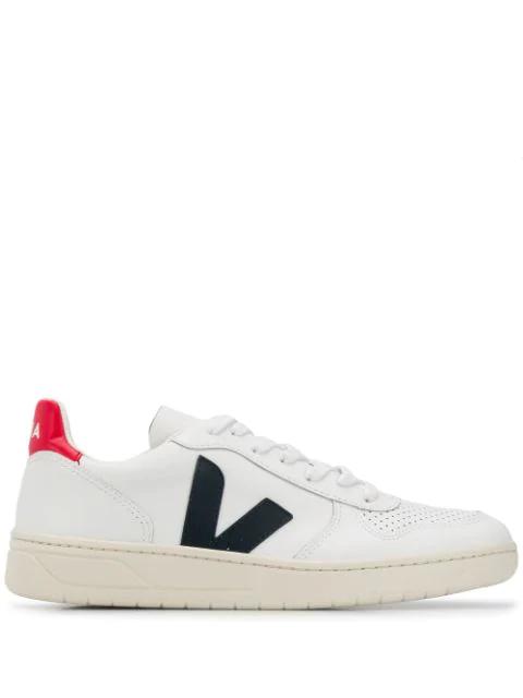 Veja Trainers V10 Leather Extra White Nautico Pekin Pierre