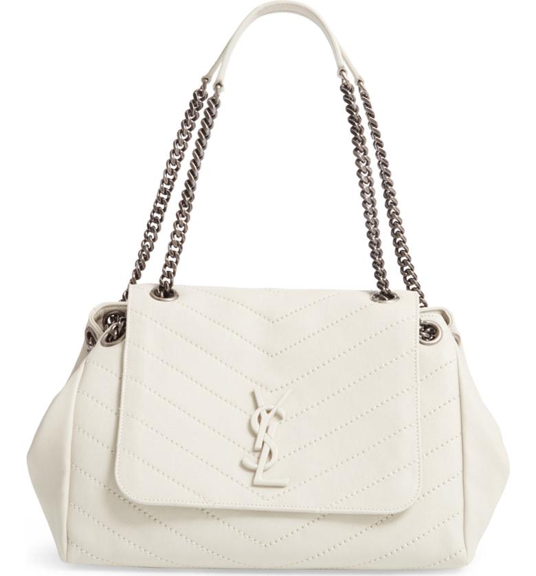 1e48ca88a7e0 Saint Laurent Nolita Large Monogram Ysl Double Chain Shoulder Bag ...