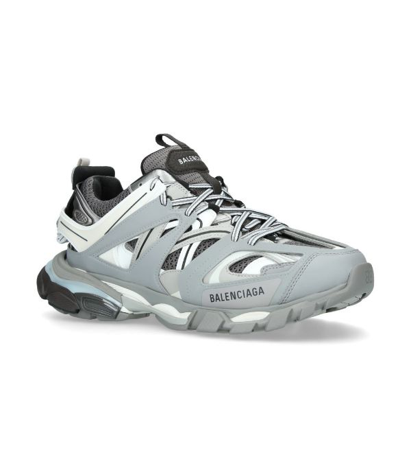 Balenciaga Track Nylon And Mesh Trainers In 1214 Grey
