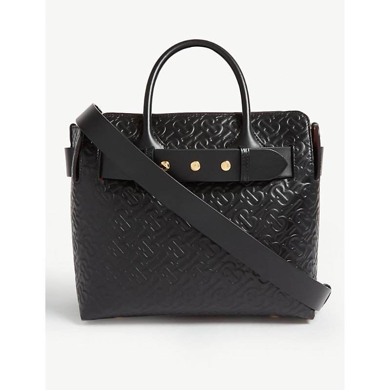 941b2353fe Burberry Women's Leather Handbag Shopping Bag Purse The Belt In Black