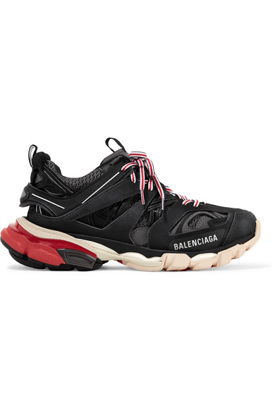 Balenciaga Track Logo-Detailed Mesh And Rubber Sneakers In Black