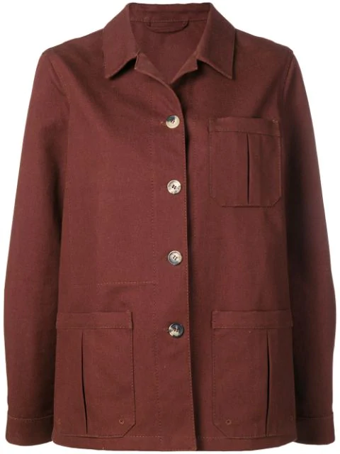 Holland & Holland Pointed Collar Jacket In Brown