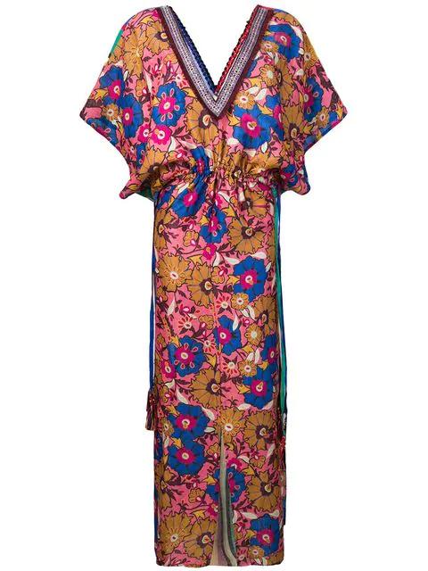 Anjuna Ariella Printed Maxi Dress In Pink