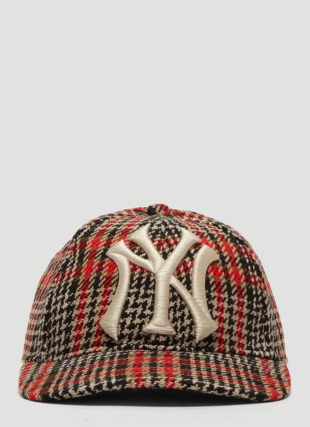 13ed612b NY Yankees Tartan Baseball Cap in Brown