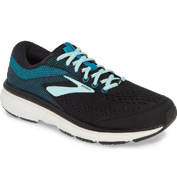 Brooks Dyad 10 Running Shoe In Black/ Island/ Capri