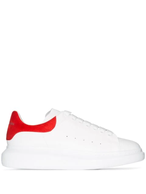 Alexander Mcqueen 'Oversized Sneaker' In Leather With Suede Collar In White