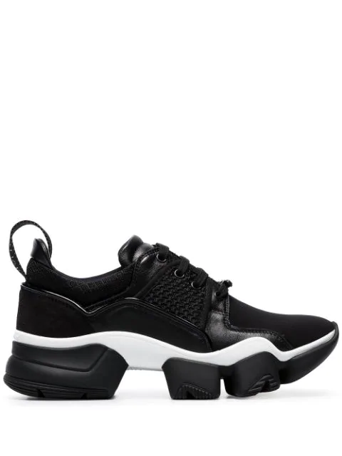 Givenchy Jaw Mesh And Suede-Trimmed Leather, Neoprene And Rubber Sneakers In 004 Black