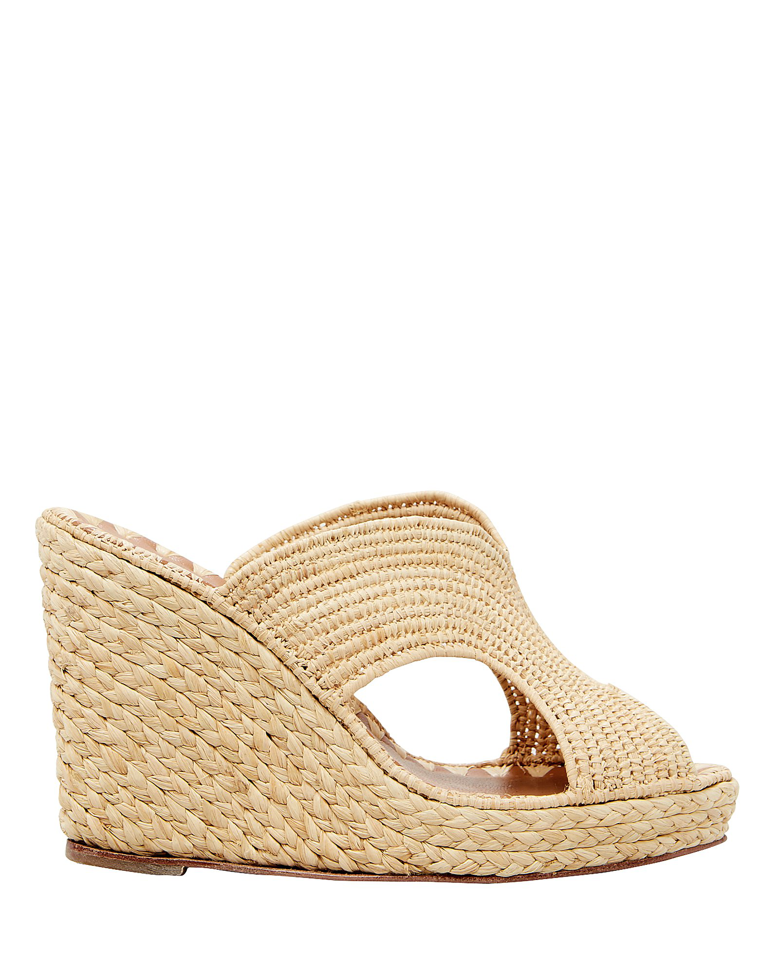 Carrie Forbes Lina Wedge Mules In Natural