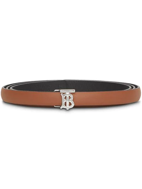 Burberry Reversible Monogram Motif Leather Wrap Belt In Brown