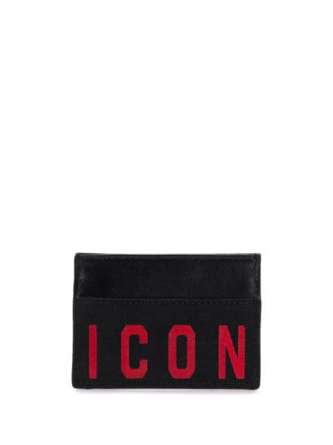 Dsquared2 Men's Credit Card Case Holder Wallet Icon In Black