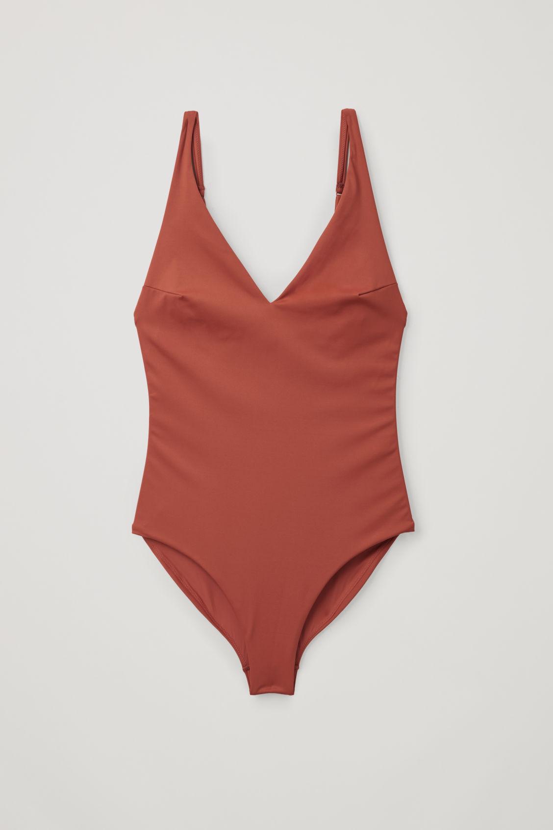 Cos V-neck Swimsuit In Orange