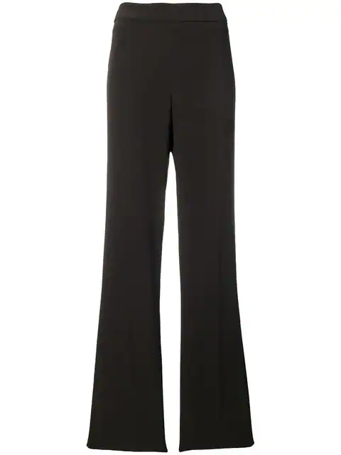 Krizia Vintage 1990's Fluid Straight Trousers In Brown