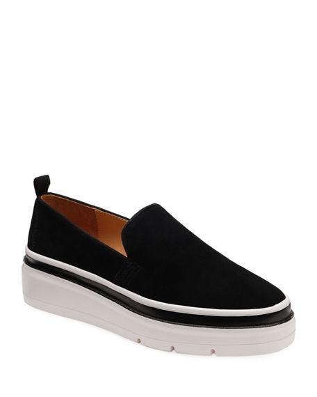 Bill Blass Sutton Suede Chunky Sneakers In Black