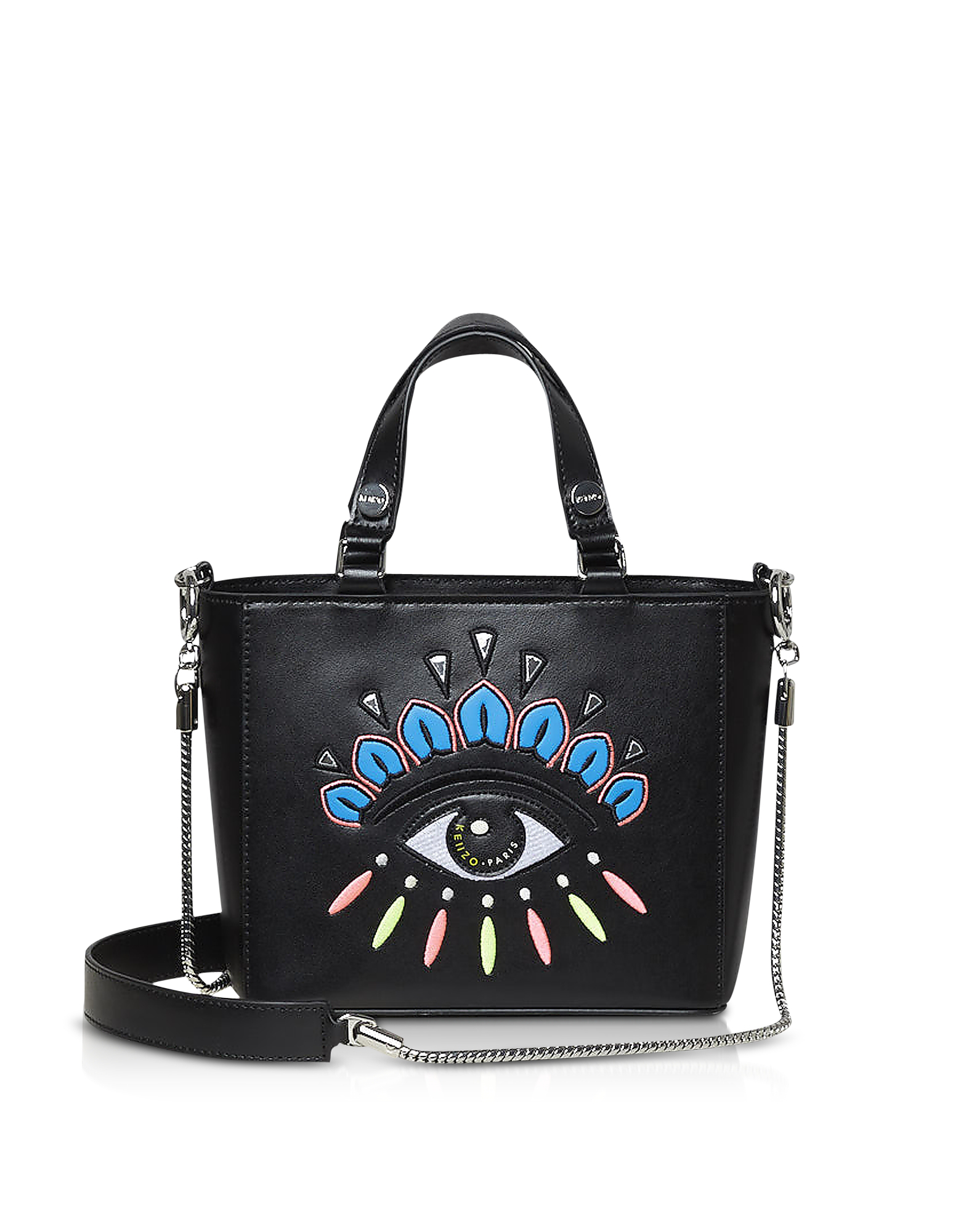 18f3e80f8a6 Kenzo Small Eye Leather Tote Bag In Black | ModeSens
