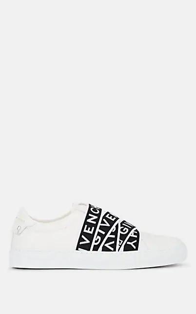 Givenchy Urban Street Logo 提花皮革套穿运动鞋 In White