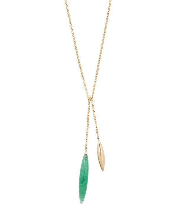 Atelier Vm Gold Close To Me Avventurina Necklace