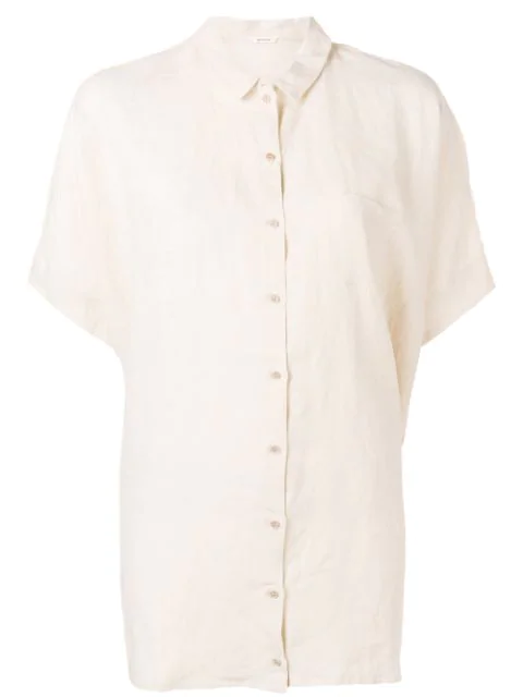 Apuntob Crease Effect Shirt In Neutrals