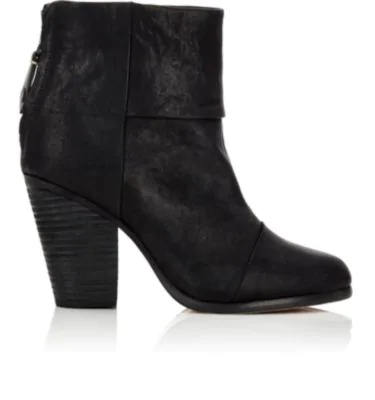 Rag & Bone Newbury Leather Ankle Boots In Black