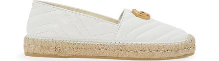 Gucci Espadrilles Charlotte  Nappa Leather Logo White