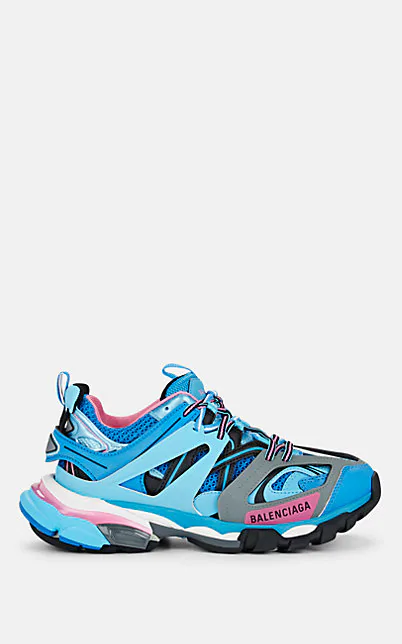 Balenciaga 蓝色 And 粉色 Track 运动鞋 In Lt. Blue