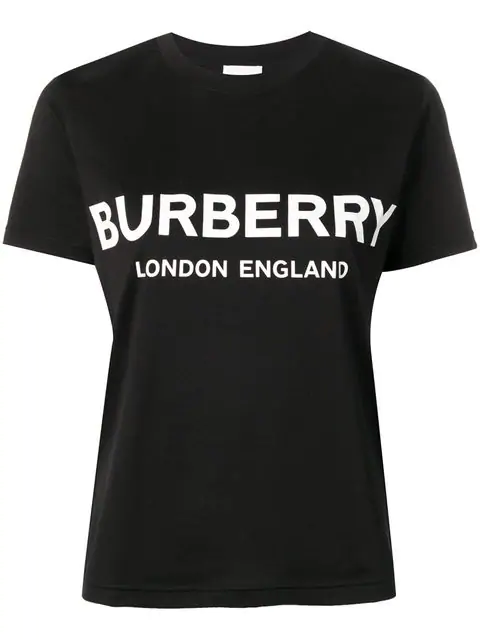 Burberry Logo-print Oversized Cotton T-shirt In Black