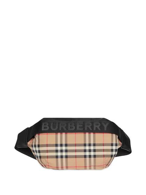 Burberry Burberrry Medium Sonny Vintage Check Belt Bag - Beige In Neutrals