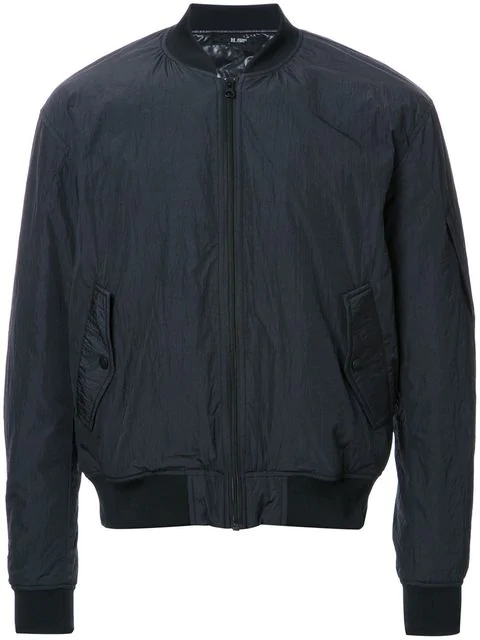 Hl Heddie Lovu Paper Zipped Bomber Jacket In Black
